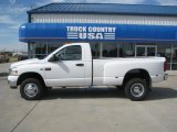 2008 Bright White Dodge Ram 3500 SLT Regular Cab 4x4 Dually #36480472