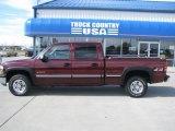 2001 Dark Carmine Red Metallic Chevrolet Silverado 1500 LS Crew Cab 4x4 #36480474