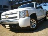 2008 Summit White Chevrolet Silverado 1500 LS Crew Cab 4x4 #36547468