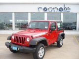 2011 Flame Red Jeep Wrangler Sport 4x4 #36547530