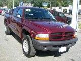 2003 Dark Garnet Red Pearl Dodge Dakota SXT Club Cab 4x4 #36547559