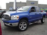 2008 Electric Blue Pearl Dodge Ram 1500 Big Horn Edition Quad Cab 4x4 #36547289