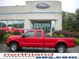2003 Red Clearcoat Ford F250 Super Duty XLT SuperCab 4x4 #36547334