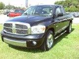2008 Brilliant Black Crystal Pearl Dodge Ram 1500 Laramie Quad Cab #36548222
