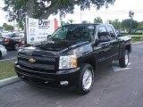 2011 Black Chevrolet Silverado 1500 LT Extended Cab 4x4 #36547453