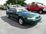 2000 Amazon Green Metallic Ford Mustang V6 Convertible #36623374