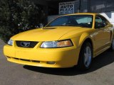 1999 Chrome Yellow Ford Mustang GT Coupe #36623463