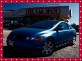 2007 Atomic Blue Metallic Honda Civic LX Coupe #36622446