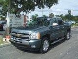 2011 Blue Granite Metallic Chevrolet Silverado 1500 LT Crew Cab #36622135