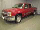 2005 Sport Red Metallic Chevrolet Silverado 1500 LS Extended Cab 4x4 #36622639