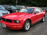 2007 Torch Red Ford Mustang V6 Deluxe Convertible #36712353