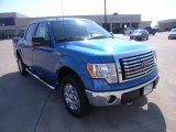 2010 Blue Flame Metallic Ford F150 XLT SuperCrew 4x4 #36767673
