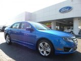 2011 Blue Flame Metallic Ford Fusion Sport #36767246