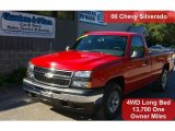 2006 Victory Red Chevrolet Silverado 1500 Work Truck Regular Cab 4x4 #36767285