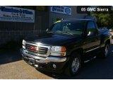 2005 Onyx Black GMC Sierra 1500 SLE Regular Cab 4x4 #36767287