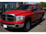 2007 Flame Red Dodge Ram 1500 SLT Quad Cab 4x4 #36767755
