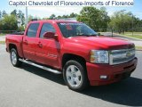 2010 Victory Red Chevrolet Silverado 1500 LTZ Crew Cab 4x4 #36817331