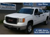 2007 Summit White GMC Sierra 2500HD SLE Crew Cab 4x4 #36817071