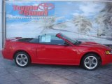 2002 Torch Red Ford Mustang GT Convertible #36817430