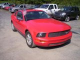 2005 Torch Red Ford Mustang V6 Deluxe Coupe #36856862