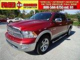 2009 Inferno Red Crystal Pearl Dodge Ram 1500 Laramie Crew Cab #36857338
