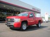 2010 Victory Red Chevrolet Silverado 1500 LS Regular Cab #36856951