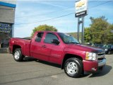 2007 Sport Red Metallic Chevrolet Silverado 1500 LT Z71 Extended Cab 4x4 #36856311