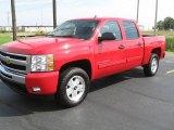 2010 Victory Red Chevrolet Silverado 1500 LT Crew Cab 4x4 #36856999