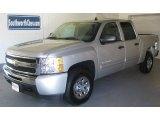 2010 Sheer Silver Metallic Chevrolet Silverado 1500 LS Crew Cab 4x4 #36857092