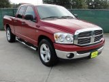 2008 Inferno Red Crystal Pearl Dodge Ram 1500 Lone Star Edition Quad Cab #36856712