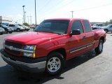 2004 Victory Red Chevrolet Silverado 1500 LS Extended Cab #36963462