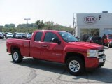 2009 Victory Red Chevrolet Silverado 1500 LT Extended Cab 4x4 #36963481