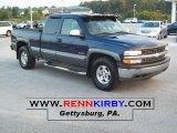 2000 Indigo Blue Metallic Chevrolet Silverado 1500 LS Extended Cab 4x4 #36963493