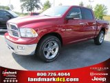 2010 Inferno Red Crystal Pearl Dodge Ram 1500 Big Horn Crew Cab #36963160