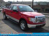 2010 Vermillion Red Ford F150 XLT SuperCab 4x4 #36963195