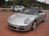 2007 Arctic Silver Metallic Porsche 911 Carrera 4S Cabriolet #36962973