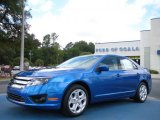 2011 Blue Flame Metallic Ford Fusion SE #36963060