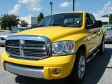 2008 Detonator Yellow Dodge Ram 1500 Laramie Quad Cab #36963089