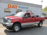 2002 Toreador Red Metallic Ford F250 Super Duty XLT SuperCab 4x4 #37033091