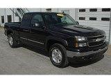 2006 Black Chevrolet Silverado 1500 Z71 Extended Cab 4x4 #37033786