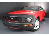 2007 Torch Red Ford Mustang V6 Deluxe Convertible #37032812