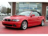2005 Electric Red BMW 3 Series 330i Convertible #3701845