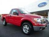 2010 Vermillion Red Ford F150 XLT Regular Cab #37033206