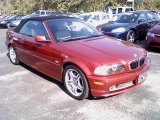 2001 Siena Red Metallic BMW 3 Series 330i Convertible #37032922