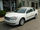 2005 White Chevrolet Malibu Sedan #37125536