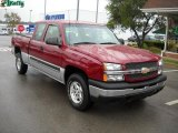 2004 Sport Red Metallic Chevrolet Silverado 1500 LS Extended Cab 4x4 #37175223