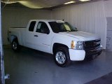 2008 Summit White Chevrolet Silverado 1500 LT Extended Cab #37175449