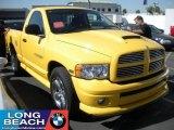 2004 Solar Yellow Dodge Ram 1500 SLT Rumble Bee Regular Cab #37175241