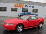 2003 Torch Red Ford Mustang V6 Convertible #37175077
