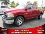 2010 Inferno Red Crystal Pearl Dodge Ram 1500 ST Quad Cab #37175141